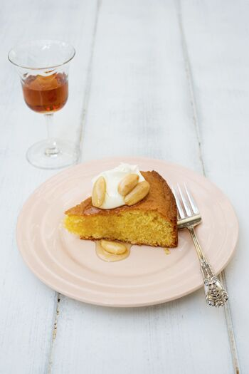 sharon hearne smith lemon almond polenta cake