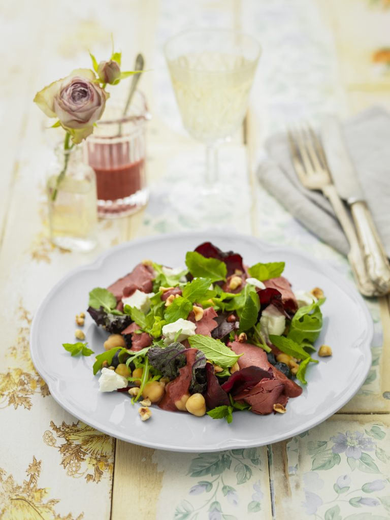 beef blueberry and feta salad
