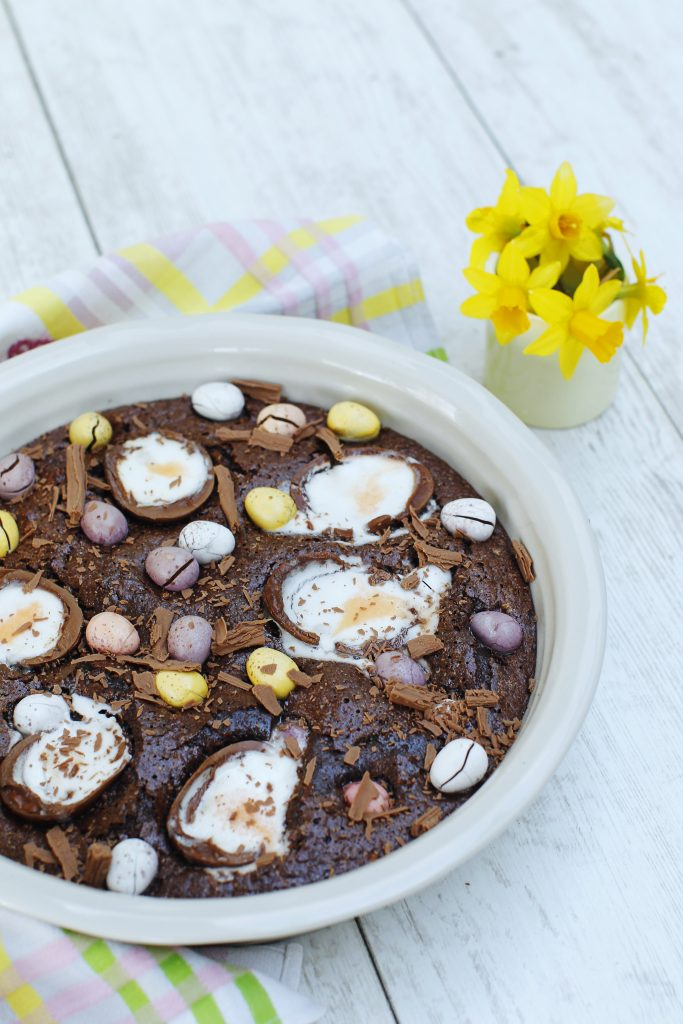 baked easter chocolate pudding