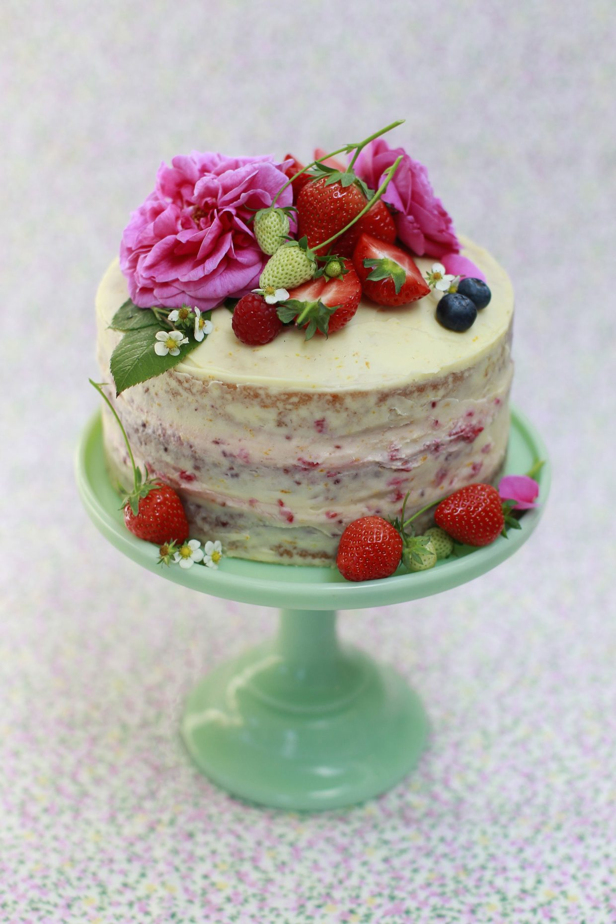 berry celebration cake