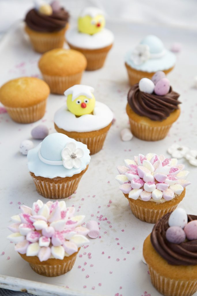 Easter Cupcakes four ways: